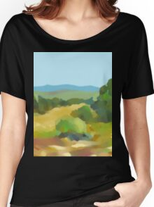 Digital Landscape Painting Women's Relaxed Fit T-Shirt
