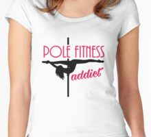 Pole Fitness addict Women's Fitted Scoop T-Shirt