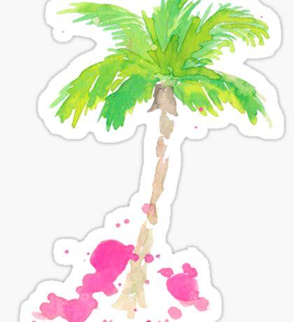 palm tree lilly pulitzer Sticker
