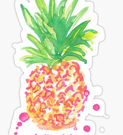 pineapple lilly pulitzer Sticker