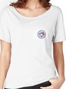 Toronto Blue Jays Official Logo Women's Relaxed Fit T-Shirt