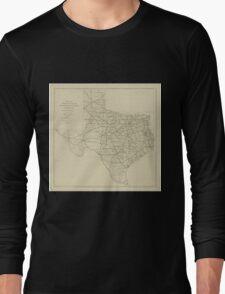 Vintage Texas Highway Map (1919) Long Sleeve T-Shirt