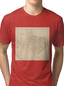 Vintage Texas Highway Map (1919) Tri-blend T-Shirt