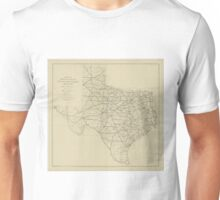 Vintage Texas Highway Map (1919) Unisex T-Shirt
