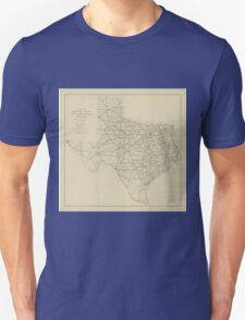 Vintage Texas Highway Map (1919) T-Shirt