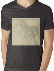 Vintage Texas Highway Map (1919) Mens V-Neck T-Shirt