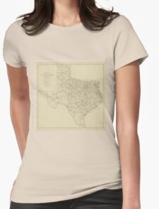 Vintage Texas Highway Map (1919) Womens Fitted T-Shirt