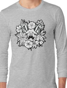 Happy Floral Bat Long Sleeve T-Shirt