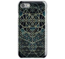 Sacred Geometry - Quantum conexion - Dark iPhone Case/Skin