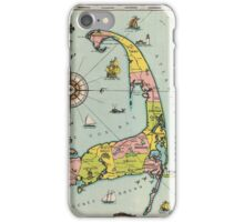 Vintage Map of Cape Cod iPhone Case/Skin