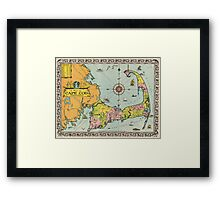 Vintage Map of Cape Cod Framed Print