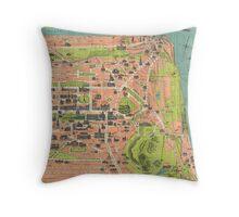 Vintage Map of Edinburgh Scotland (1935) Throw Pillow