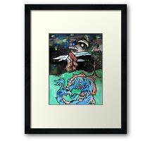 Water Color Dragon Framed Print