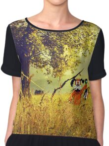 Nintendo Duck Hunt (no HUD) retro pixel art Chiffon Top