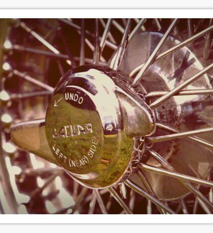 Jaguar wire wheel Sticker