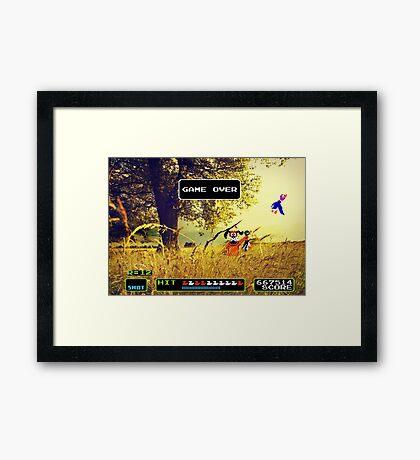 Duck Hunt pixel art Framed Print