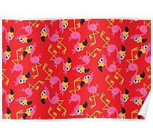 Cute Flamingo Red Poster
