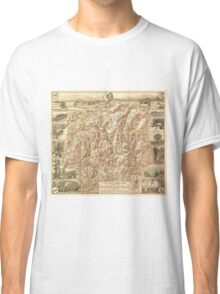 Vintage Map of The White Mountains (1937) Classic T-Shirt