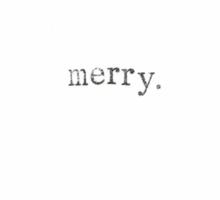 Merry Minimalism Sticker