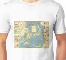 Vintage Map of Cape Cod (1940) Unisex T-Shirt