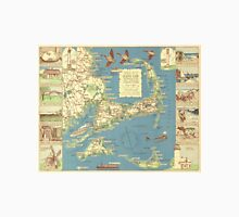 Vintage Map of Cape Cod (1940) Unisex T-Shirt