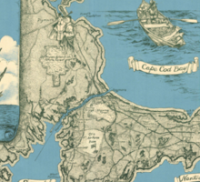 Vintage Map of Cape Cod (1945)  Sticker