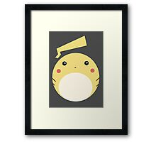 Pikachu Ball Framed Print