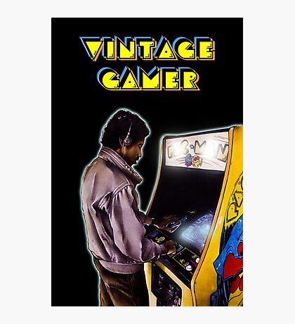 Vintage Gamer 80's Photographic Print