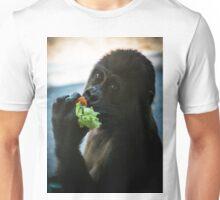 Baby Gorilla Eating Unisex T-Shirt