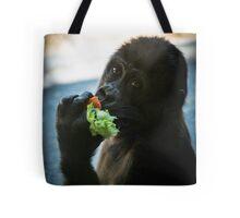 Baby Gorilla Eating Tote Bag