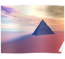 Ancient Pyramid In Desert Poster