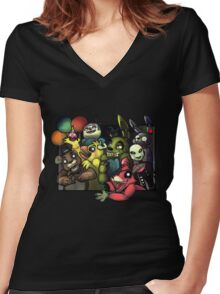 five nights at freddy's 3 Women's Fitted V-Neck T-Shirt