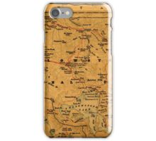 Map Of Yellowstone 1880 iPhone Case/Skin