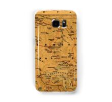 Map Of Yellowstone 1880 Samsung Galaxy Case/Skin
