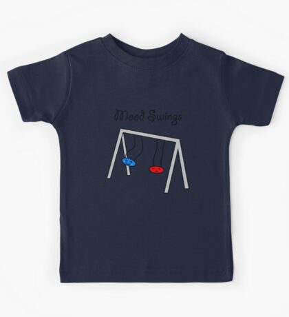 Funny Mood Swings Cartoon Kids Tee