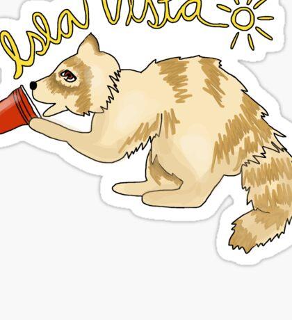 Isla vista albino raccoon  Sticker