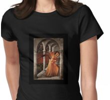 Golden Angel in Temple Womens Fitted T-Shirt