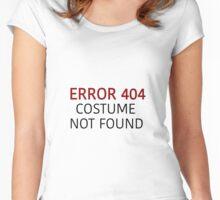 Error 404 Costume Not Found - Regular - Halloween Women's Fitted Scoop T-Shirt