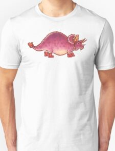Pink Triceratops Derposaur with Wellies Unisex T-Shirt