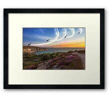 Blades Over The Needles Framed Print