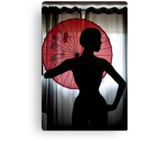 Elegant silhouette Canvas Print