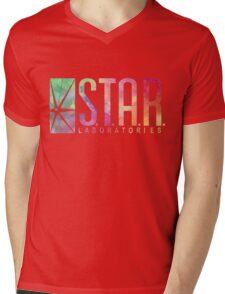 White Watercolor S.T.A.R. Laboratories Mens V-Neck T-Shirt
