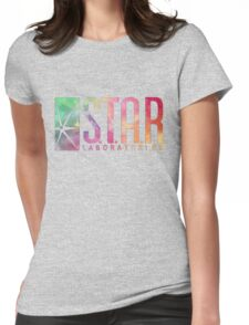 White Watercolor S.T.A.R. Laboratories Womens Fitted T-Shirt