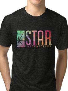 Blue Watercolor S.T.A.R. Laboratories Tri-blend T-Shirt