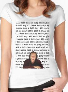 The Shining - All Work And No Play Women's Fitted Scoop T-Shirt