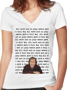 The Shining - All Work And No Play Women's Fitted V-Neck T-Shirt