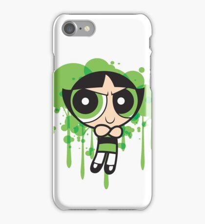 The Green Powerpuff Sticker iPhone Case/Skin
