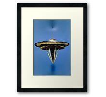 UFO Anti-gravity Landing Space Needle Framed Print
