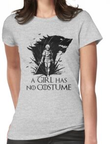 A Girl Has No Costume- halloween Womens Fitted T-Shirt