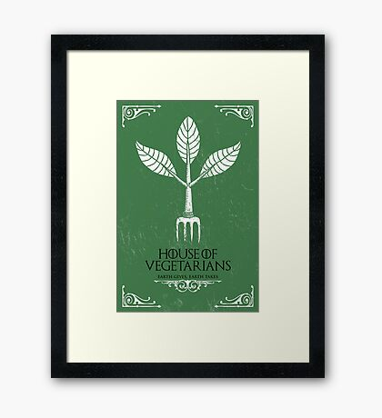 HOUSE OF VEGETARIANS Framed Print